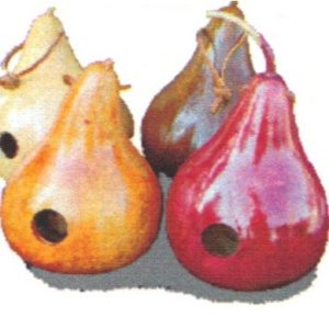 "Gourd Birdhouse (medium) 1-1/2"" hole - red"