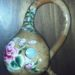 Pink Roses on a Dipper Gourd Birdhouse